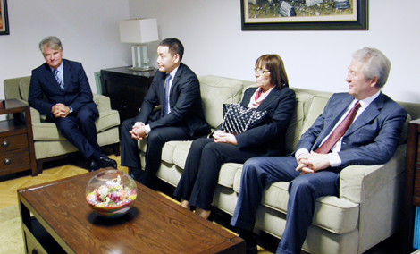 Visit of the Ambassador of Kazakhstan